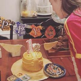 Happy 12th Bday to this #harrypotter #tween #snitchcake #birthday #girl 💙🎉
