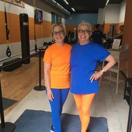 #mypats in full effect! Supporting our #cameronstreet opening #clientlove #fitoneoldtown #orangeandblue #blueandorange