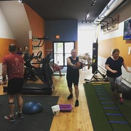 Classes are back on at our #new #studio #powercircuit #strengthtraining #cardio #cameronstreet #fitoneoldtown #fitonestudiodotcom #registernow